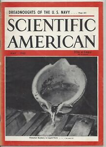 Scientific American Magazine May 1942 WWII Dreadnoughts Navy Battleships