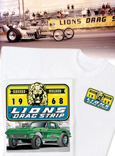 HS #037 Lion/'s 1966 Corvette Gasser Dragster Vintage Lions Drag Strip T-shirt