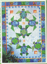 Java House Shell We Dance Sea Turtles Quilt Pattern Applique Paper Pieced