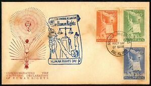 Philippine-1951-Universal-Declaration-of-Human-Rights-FDC-G