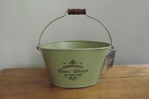 metal painted shabby chic vintage planter french