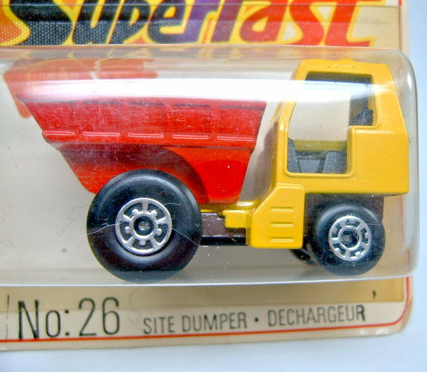 MATCHBOX SF N. N. N. 26c sito Cassone giallo & rosso metallizzato castani chassis top 2987a5