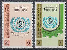 Qatar 1994 ** mi.1037/38 organizzazione del lavoro Labour Organization ILO