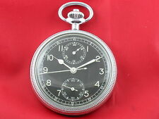 BREITLING 605 A Navigational MILITARY POCKET WATCH CHRONOGRAPH US Army ca. 1953