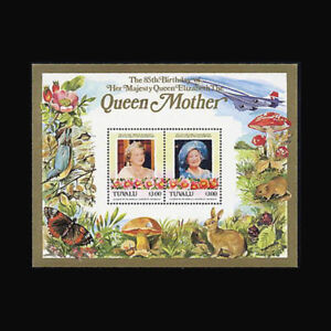 TUVALU-Sc-317-MNH-1986-S-S-Royalty-Queen-Mother-1118