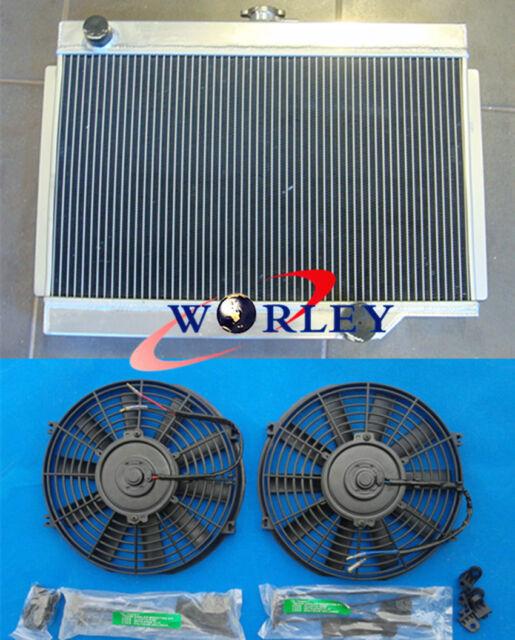 3 Row For HOLDEN EJ/EH 179 2.9L L6 1962-1965 Manual MT Aluminum Radiator + Fans