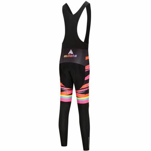 Miloto Cycling Winter Bibs Women/'s Padded Fleece Thermal Bib Pants Tights S-XXXL