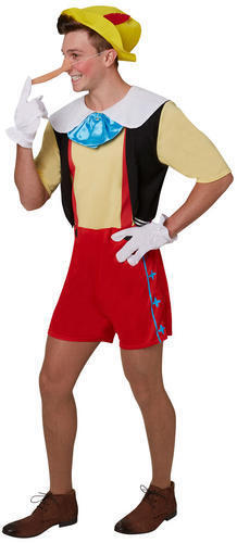 Pinocchio conte de fées marionnette adulte livre semaine men/'s fancy dress costume m-xl