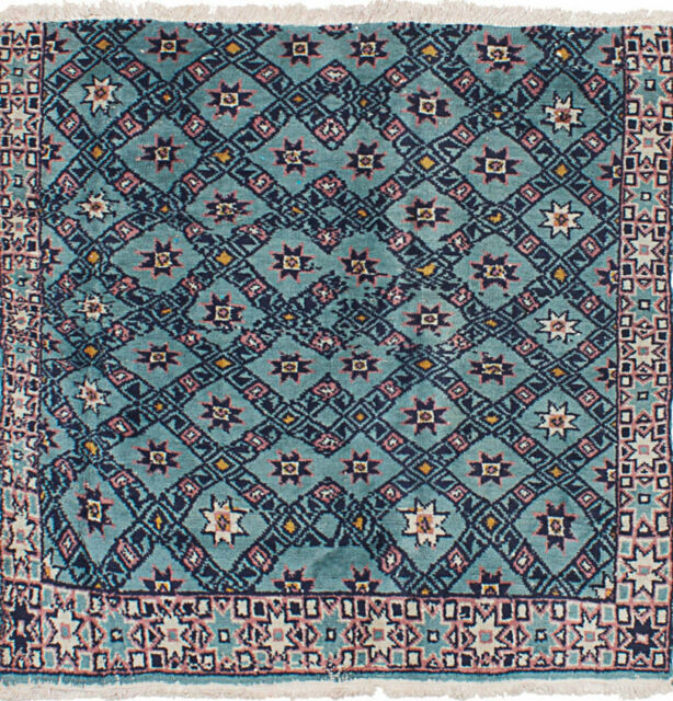 """Hand-knotted Turkish Carpet 3'8"""" x 3'8"""" Melis Vintage Wool Rug...DISCOUNTED!"""