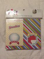 Meijer Party Supplies: Milk Carton Treat Boxes Favor 4 Count Dots & Stripes