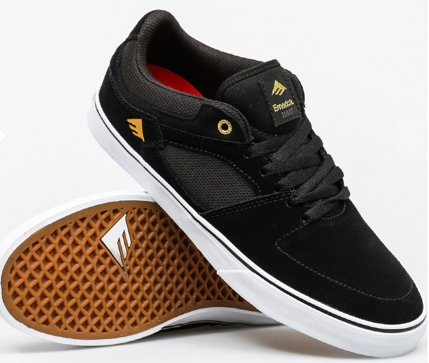 Emerica the HSU Low Vulc noir/blanc taille 44 (us 10.5) skate shoes skateboard