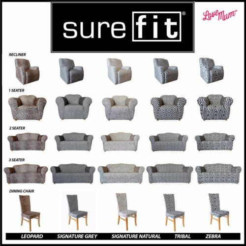 Surefit Stretch Statement Prints Couch Lounge Sofa Covers 5 Patterns