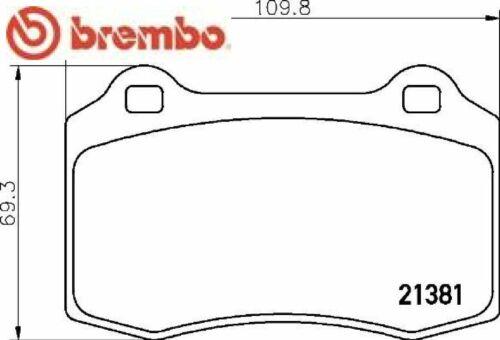 BREMBO BREMSBELAGSATZ BREMSBELÄGE BREMSKLÖTZE CITROËN DAIMLER DS JAGUAR P36020