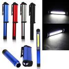 Aluminum LED COB CREE Pen Pocket Torch Lamp Light Magnetic Inspection Work Lamp