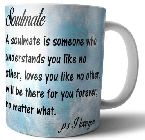 Soulmate Best friend Love Quote Valentines Day Birthday Gift Anniversary