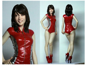 Asian girl in latex