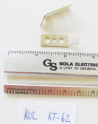 "10 x Kulka KT-62 Terminal Block Hardware Double Row 1x 45 Deg .250"" x .032"" KT62"