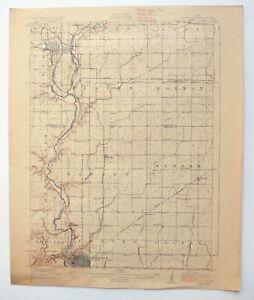 Fort Dodge Iowa Vintage 1923 Usgs Topo Map Humboldt 15 Minute