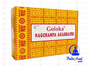 INCIENSO-GOLOKA-AMARILLO-NAG-CHAMPA-12-CAJAS-CAJITAS-MUESTRAS-GRATIS