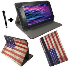 10.1 zoll Motiv Tablet Tasche Hülle Case Etui - Fusion5 104 GPS - USA Flagge