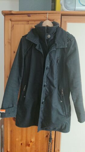 Street Coat Taille Noir Jermyn Double Trench large Superdry Label v7xwRqUt