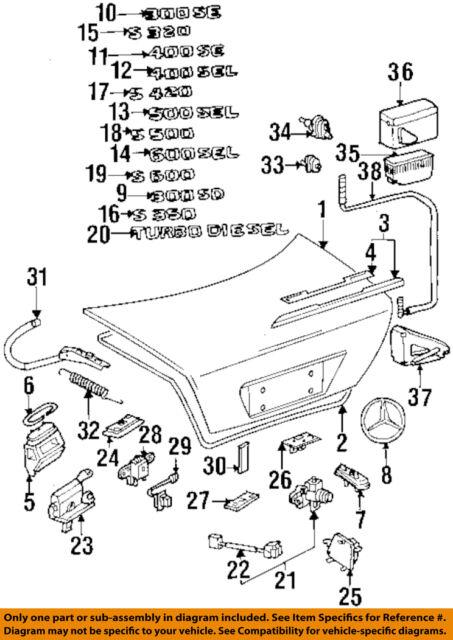 s l640 mercedes w140 s class central vacuum power door lock locking pump