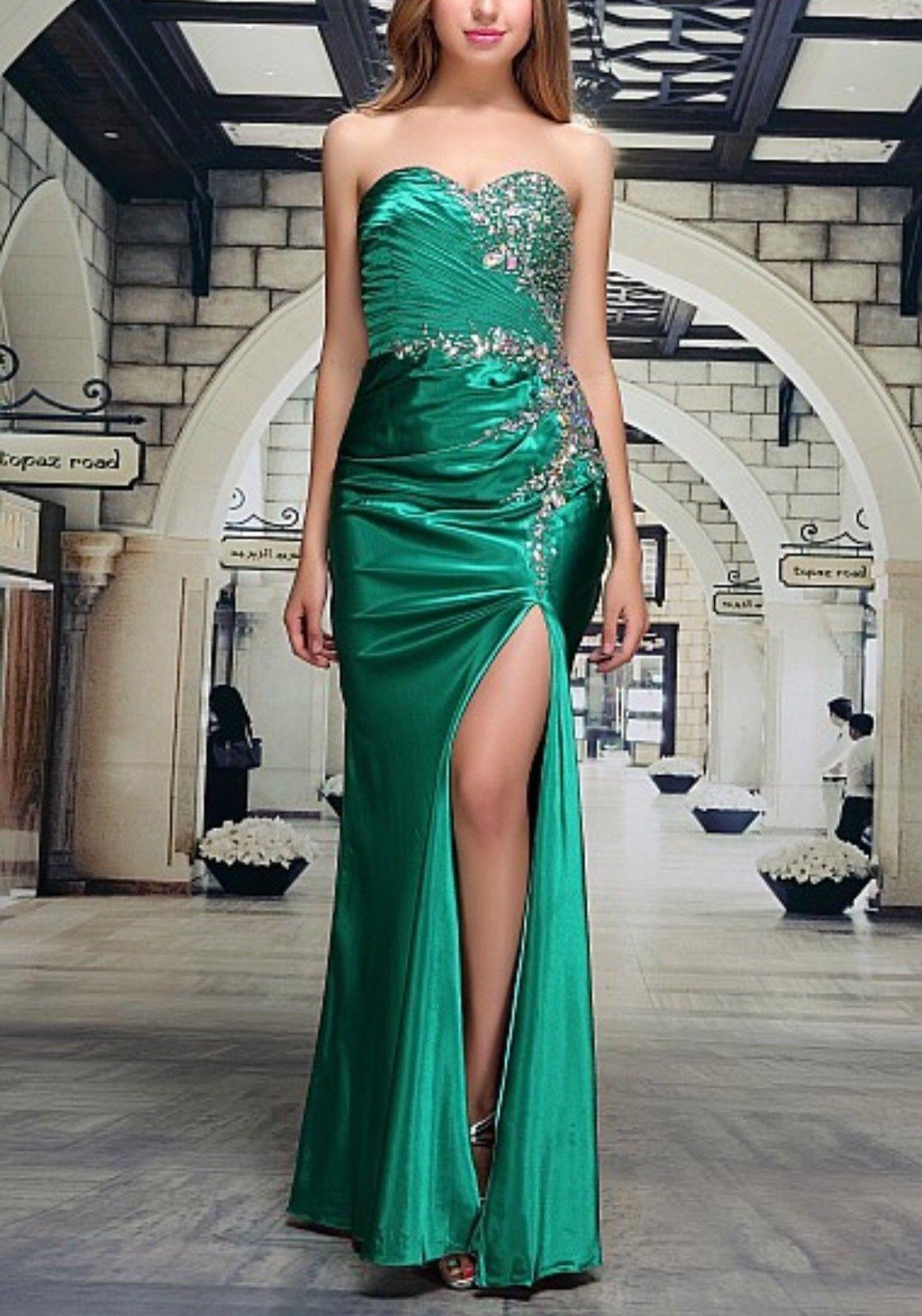 Abendkleid Ballkleid Brautkleid Kleid von Festamo in grün, Gr. 32 34 36 38 40
