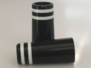 10-Custom-Black-Ferrules-2-White-Rings-fits-355-and-370-shafts