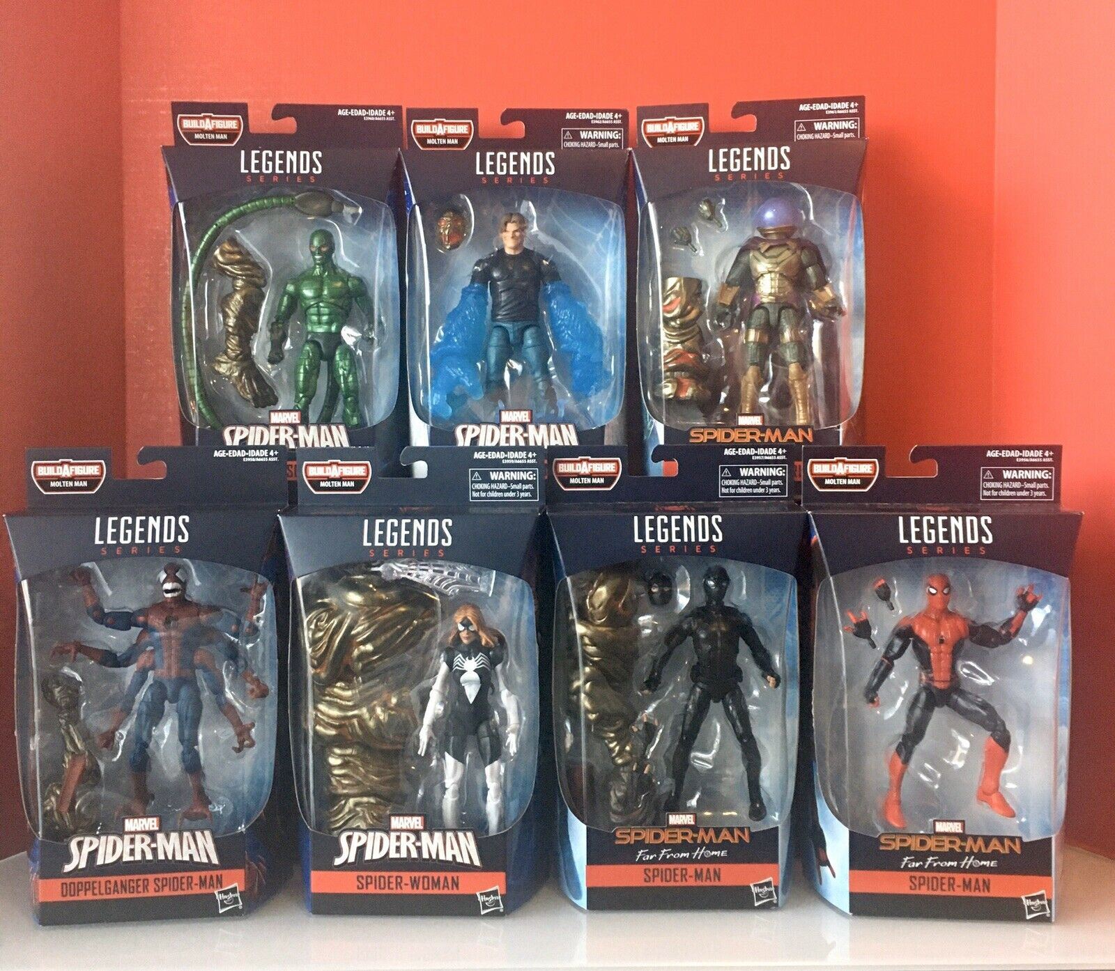 Hasbro Marvel Legends - Molten uomo BAF   Spider-uomo Wave - 7 NUOVE cifra Sealed