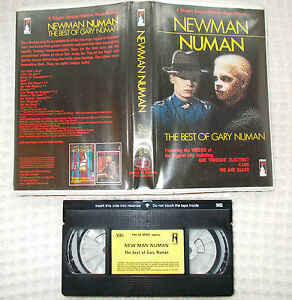 RARE-Pre-Cert-VHS-NEWMAN-NUMAN-Best-of-Gary-Numan-Palace-Video