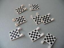 Lego 8 drapeaux imprimes set 6426 6539 8681 6377 / 8 white decorated flags
