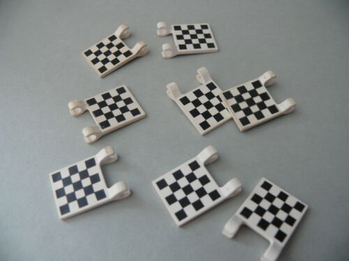 Lego 8 drapeaux imprimes set 6426 6539 8681 6377 8 white decorated flags