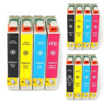 12x Ink Cartridges T200XL for Epson XP200 XP300 XP400 XP310 XP410 WF2510 NonOEM