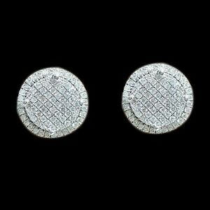 02a1a0146 Womens Mens 14K White Gold Over 2 CT Round D/VVS1 Diamond Cluster ...