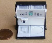 1:12 Scale Doll House Cafe Kitchen Drink Accessory Metal Espresso Coffee Machine