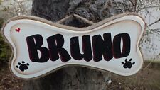 PERSONALIZED DOG BONE COUNTRY WOOD RUSTIC PRIMITIVE  SIGN PLAQUE