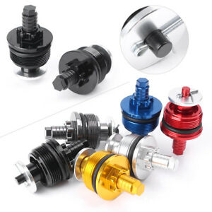 CNC-Aluminum-Pair-Preload-Adjusters-Fork-Bolts-Silver-For-Kawasaki-Ninja-250R