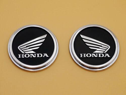 Oil Gas Tank Emblems Decals Honda Wing Cafe Racer Z50 Z50M Monkey Black Silver