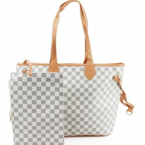 LeahWard Women/'s 2 IN 1 Shoulder Bag With Clutch Bag Designer Shopper Handbags