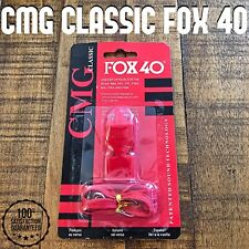 Fox 40 Classic CMG Whistle Black Cushioned Mouthgrip Official Referee 115db