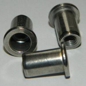 50 Blindnietmuttern M8 Stahl Senkkopf verz gerändelt 3,5-6,5mm Einnietmuttern