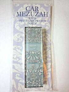 "Car Mezuzah 2.5"" Acrylic OPAL GOBLET with Travelers Prayer Scroll"