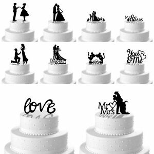 New Romantic Mr Mrs Heart Wedding Cake Topper Decor Bride Groom ...