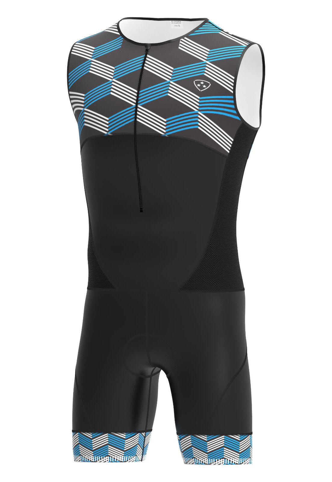 Dhera TRIATHLON Tri Tri Tri Tuta Imbottita Compressione Corsa Nuoto Ciclismo Skinsuit eba6f5