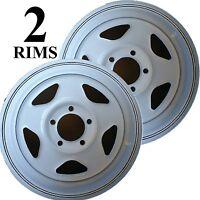 Two 14 Trailer Rim Wheel 14x5.5 5/4.5 Boat Camper Marine Utility Stock 5 Spoke