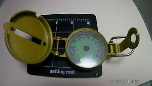 Vintage Engineer Directional compass with metal case