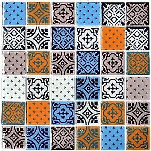 Retro-Vintage-Glasmosaik-Fliese-weiss-blau-orange-grau-Glasmosaik-Optik-68-4OP12