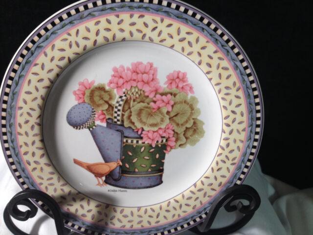 Sakura Debbie Mumm Spring Bouquet 1999 collectible plate, 8 inches diameter