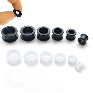 Curvo-Silicone-Trasparente-Dilatatore-Piercing-Morbida-Flessibile-Orecchio