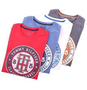 Tommy-Hilfiger-Men-Classic-Logo-Crew-Neck-Tee-T-Shirt-Short-Sleeve-Free-0-Ship
